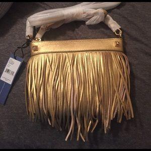 Rebecca Minkoff Handbags - NWT Rebecca Minkoff gold fringe crossbody
