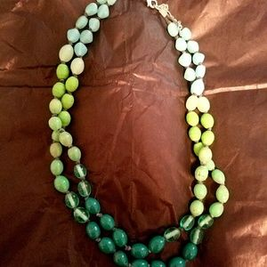Double-strand Beaded Necklace