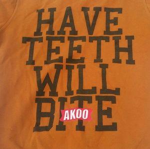 Akoo Other - AKOO Vintage Washed 'Have Teeth...' Sweatshirt XL