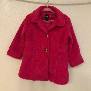 Baby gap pink fuzzy coat 2T