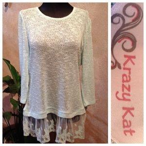 Krazy Kat Sweaters - NWOT Lightweight Mint Sweater