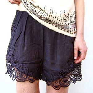 Only 2 Left! ✨ Morro Bay Black Lace Shorts