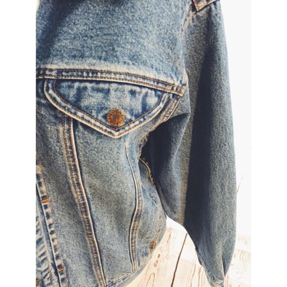 vintage Jackets & Coats - FinalDrop❗️ Vtg90s Grunge Embroidery Jean Jacket
