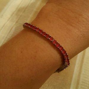 Jewelry - NWOT - Ruby Tennis Bracelet SS.925