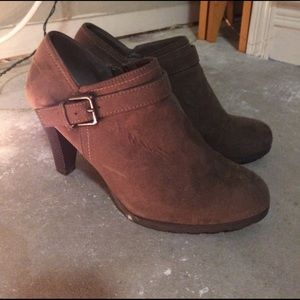 White Mountaineering Shoes - Super cute Suede Heeled Booties