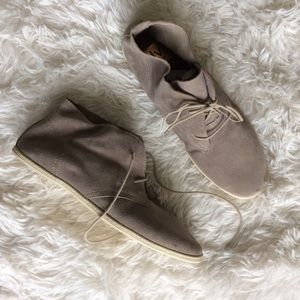 DV by Dolce Vita Shoes - DY by DOLCE VITA taupe faux suede laceup boot NWOT