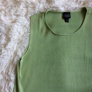 Eileen Fisher Tops - EILEEN FISHER light green sleeveless silk top