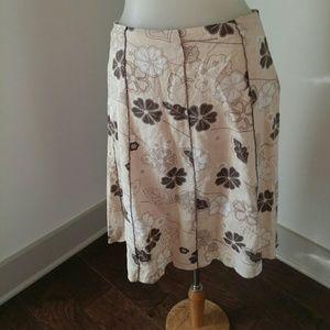 Allison Taylor Dresses & Skirts - Linen floral skirt