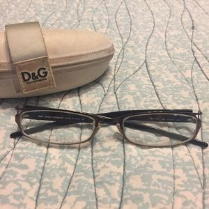 Dolce & Gabbana Accessories - Dolce & Gabbana two-toned metal frame -1.0 glasses