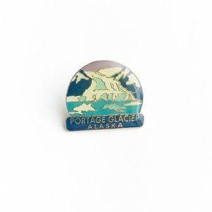 Vintage Accessories - Vintage Portage Glacier Alaska Enamel Pin
