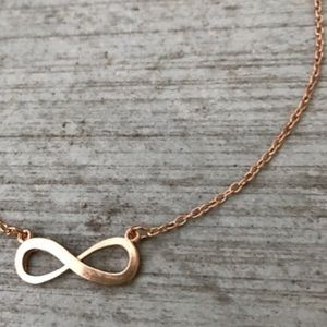 Jewelry - Rose GOLD INFINITY necklace chain figure 8 LOVE