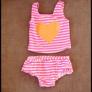 Carter's Other - Girls Carters swimsuit heart tankini