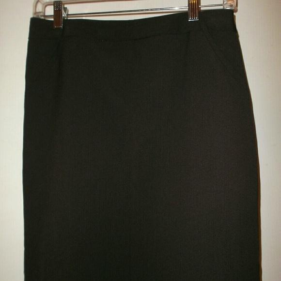 b05cfe3d51 Worthington Skirts | Curvy Fit Chocolate Brown Pencil Skirt Womens 4 ...