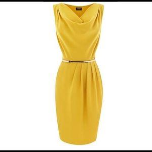 oasis Dresses & Skirts - Oasis Cowl Dress With Belt -Ochre / UK 10/ US 6