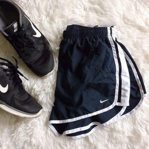 Nike Pants - NIKE black+white exercise shorts