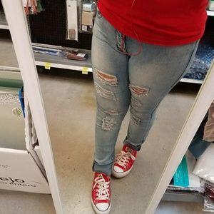 Boutique  Denim - 🎉New Light Blue Distressed Skinny jeans