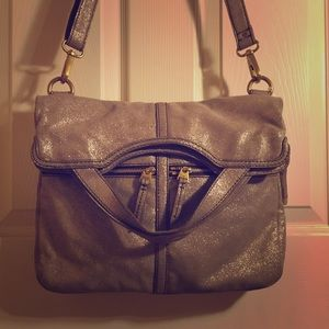 Fossil Handbags - Fossil genuine leather glitter bag