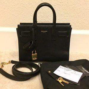 Saint Laurent Handbags - Saint Laurent Sac De Jour Nano Smooth Leather Tote