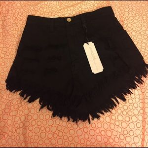 Aphrodite Pants - Black NWT high waisted shorts.