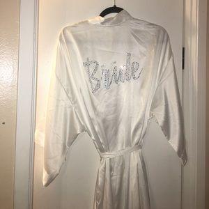Victoria secret bride Robe one size
