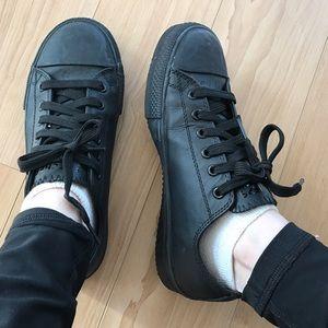 Skechers Shoes - Skechers Work Non Slip Resistant All Black Shoes 7