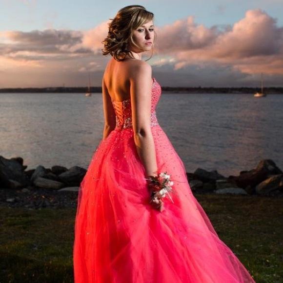 Mori Lee Dresses Neon Pink Prom Dress Poshmark