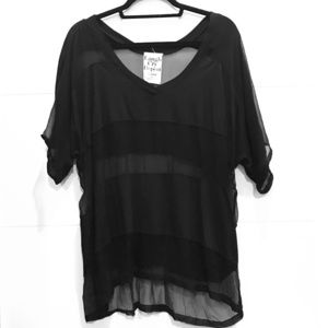 Laugh Cry Repeat Tops - Laugh Cry Repeat Black Top