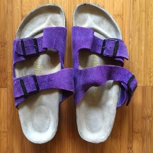 Birkenstock Shoes - Birkenstock original style purple suede sandal