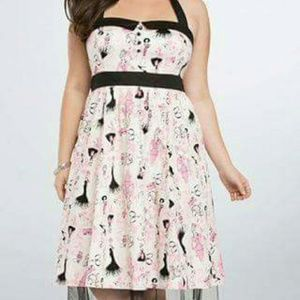 Torrid 18 Barbie retro halter swing dress