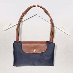 Longchamp Handbags - Longchamp Navy Blue Large Le Piliage