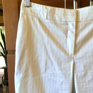 Pants - Facconable white pin stripe pant