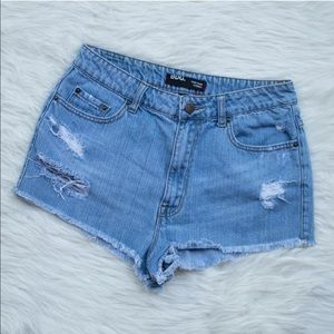 BDG Pants - BDG High Rise Cheeky Denim Shorts