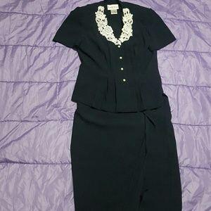 Vintage Danny and Nicole skirt suit set