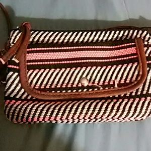 No Boundaries Handbags - No Boundaries Brown and Peach Cross Body Bag