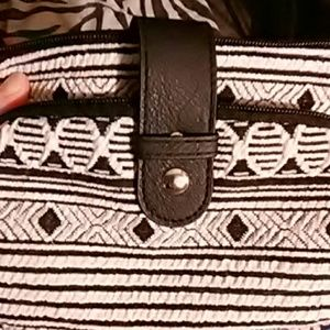 No Boundaries Handbags - No Boundaries White and Black Cross Body Bag