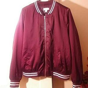 Forever 21 Jackets & Blazers - Burgundy Bomber Jacket