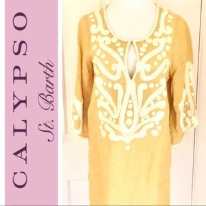Calypso St. Barth Tops - Calypso Linen Tunic with great details