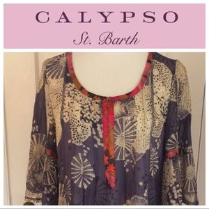Calypso St. Barth Tops - Calypso silk flowing tunic