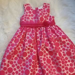 Other - NWOT. Beautiful hot pink dress with polka dots.