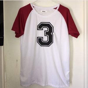 Anine Bing Tops - Number 3 Raglan T-Shirt