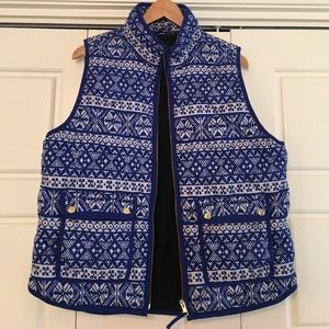 J. Crew Jackets & Blazers - Fair isle excursion vest