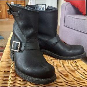 Black Frye 8-Inch Engineer Moto Boots