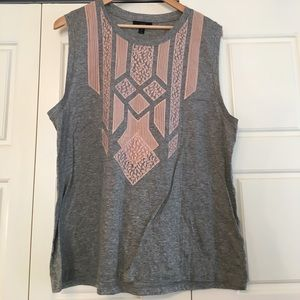 J. Crew Tops - Lace appliqué tank top
