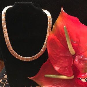 Jewelry - Gold and silver plated herringbone
