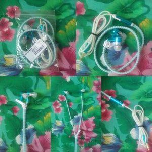 CSW Boutique Accessories - *SOLD* Blue zipper glow in the dark headphones