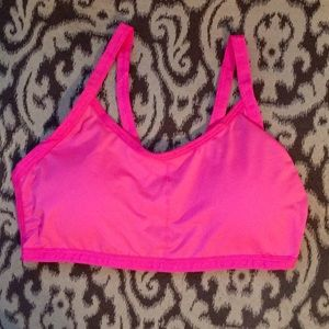 Boutique Other - Neon Pink Strappy Cage Bralette Bra Crop Top