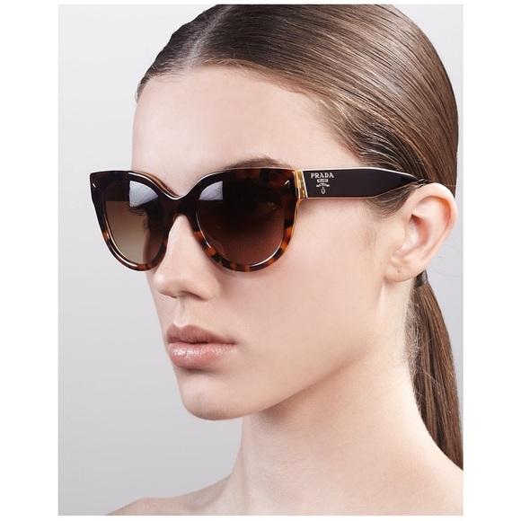 9891d9d8c689 Prada 54mm Cat Eye Yellow Tortoise Sunglasses. M 58d9136a2fd0b7b4c90f84af