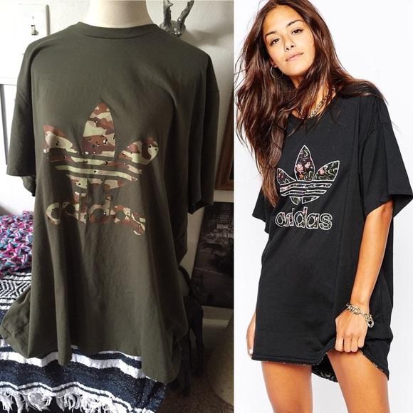 17a2b4ab2eff3 Adidas Dresses & Skirts - Adidas Oversized Camo Dress Tee