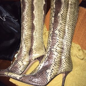 francesco sacco Shoes - Genuine Italian Python Knee Hi Boots