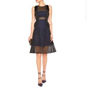 Self Portrait Dresses & Skirts - Self Portrait Fringed neoprene-effect dress